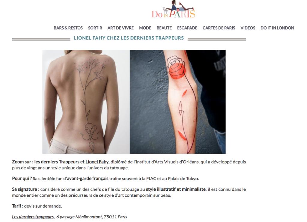 Do it in Paris - Les derniers trappeurs - Lionel Fahy
