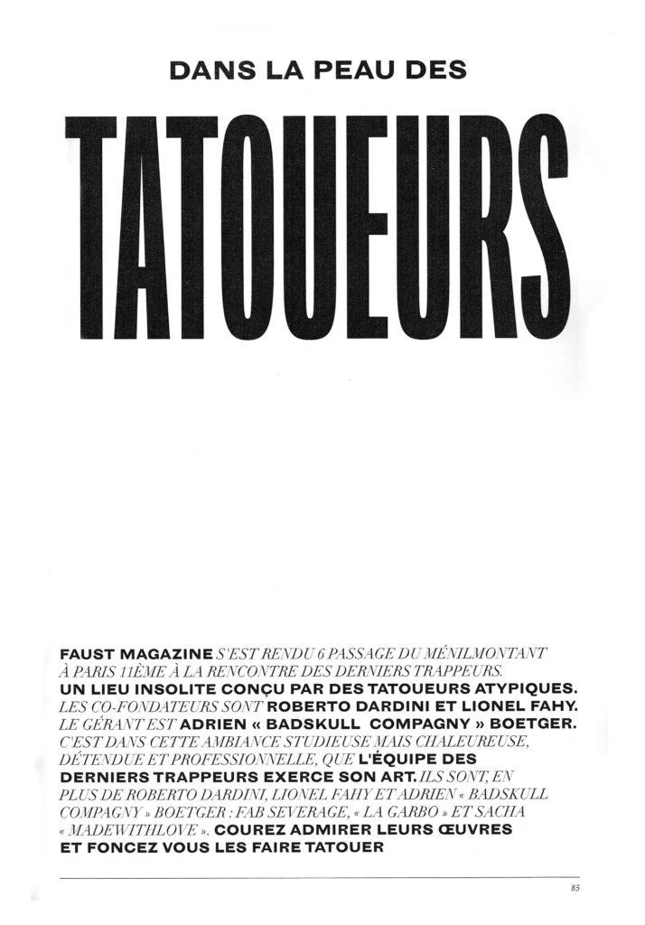 Faust Magazine - Les derniers trappeurs